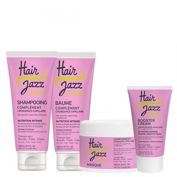 Hair Jazz Curls routine complète pour la pousse et la formation des boucles très sèches