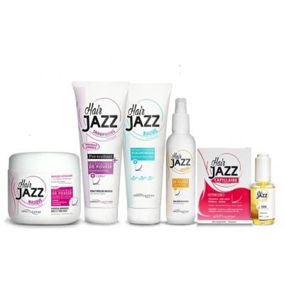 HAIR JAZZ 6 Set - Pour cheveux fins, fragiles, secs, décolorés ou abîmés par un sèche-cheveux ou un fer à lisser
