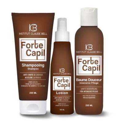 FORTE CAPIL Shampooing, lotion et baume - contre la chute des cheveux
